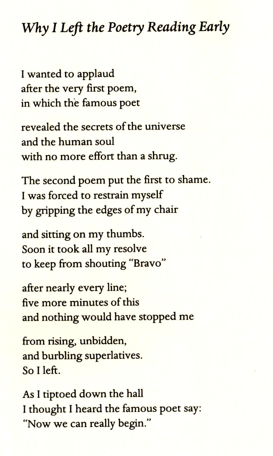 Have a Chair: Poems