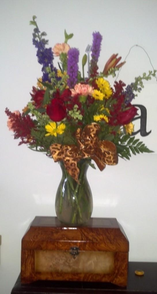 Flowers from Susan Norris