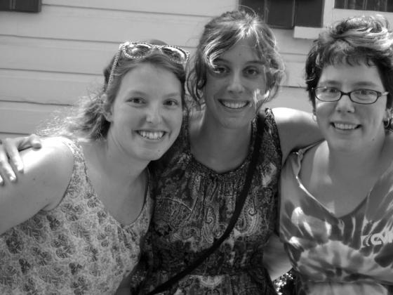 Recent picture of my sisters and I from Summer 2012 in State College. Apparently, Child took this photo. Ellen is the one on the left.