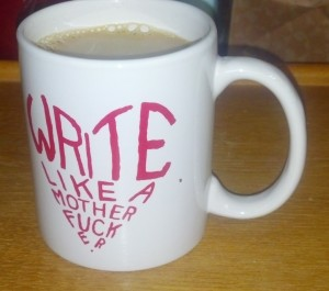 here's my morning joe, super creamy, hold the sugar, but not the Sugar.